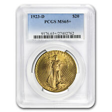 1923-D $20 Saint-Gaudens Gold Double Eagle MS-65+ PCGS - SKU#78547