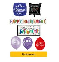 RETIREMENT - HAPPY RETIREMENT Party Banners, Balloons, Decorations