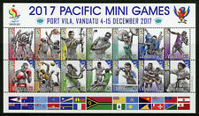 Vanuatu 2017 MNH Pacific Mini Games 14v M/S Tennis Football Rugby Boxing Stamps