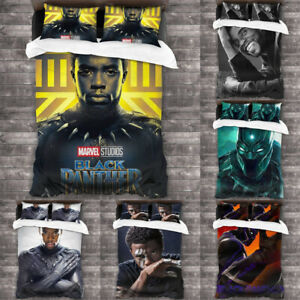 Black Panther Bedding Set 3PCS Of Duvet Cover Pillowcase Comforter Cover US Size