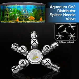 Aquarium Co2 Distributor Splitter Needle Valve Multi Way Solenoid Regulator