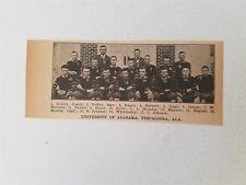 University of Alabama Crimson Tide 1916 Football Team Picture RARE