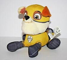 "Paw Patrol RUBBLE Super Hero w/Cape Pup Pals Plush Stuffed Toy 6"" yellow"