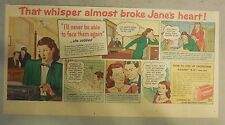 Lifebuoy Soap Ad: That Whisper Almost Broke Jane's Heart ! from 1940's
