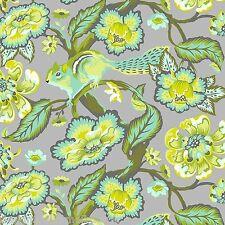 Tula Pink - Chipper - Chipmunk - Mint, F/Q or YRD , quilting fabric