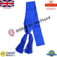 British Army Royal Air Force Officer Shoulder Sash Silk Blue Color Guard Sergean