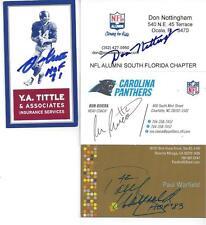 NFL LEGEND AND HALL OF FAMER Y.A. TITTLE SIGNED BUSINESS CARD DECEASED