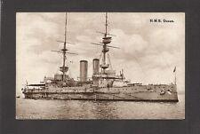 POSTCARD:  BRITISH ROYAL NAVY WW-1 BATTLESHIP H.M.S. QUEEN - Unused