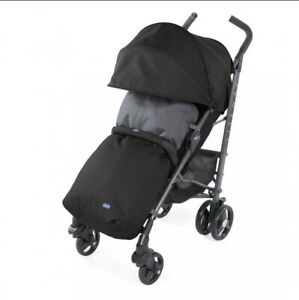 Chicco Liteway v3 Stroller (Jet Black) With Footmuff & Raincover