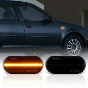 Smoke LED Side Indicator Black for Seat Alhambra Cordoba Ibiza + León + Toledo
