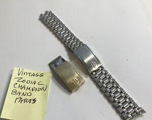 Vintage Zodiac Champion Wristwatch Band Parts