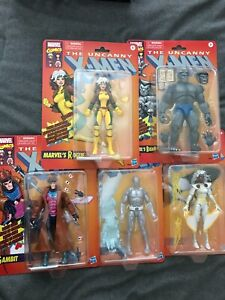 Marvel Legends Lot Retro Rogue, Gambit, Storm, Beast, Iceman
