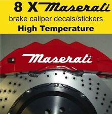 8 X Maserati Brake Caliper Decal Sticker Vinyl Emblem Graphics Racing Logo A