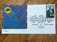 US FDC COVER/2014 RARE* DAVE CURTIS* BATMAN. L.E. 9/10 CACHET