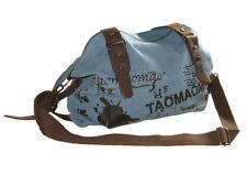Shoulder bag. Medium boho slouch. Blue/Black Graphics Taomaomao. School/College.
