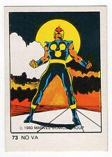 1980 Spanish Marvel Comics Superhero Terrabusi Trade Card  - #73 - Nova