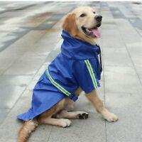 Portable Reflective Pet Dog Rain Raincoat Waterproof Poncho Hooded Coat Jacket