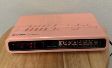 Vintage Sharp AM/FM Digital Radio Alarm Clock FX-C11 80's Pink