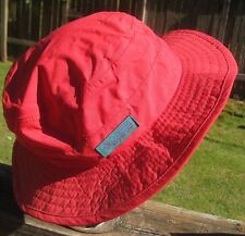 Vintage COLUMBIA Red Outdoor Hiking Camping Fishing Travel Sun Bucket Hat Size M