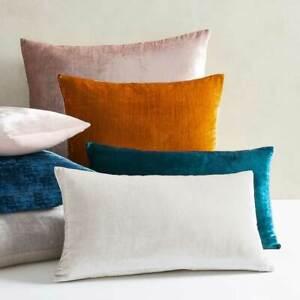 Square Velvet Cushion Cover Oblong Breakfast Velour Bed Sofa Pillow Cover [1pc]