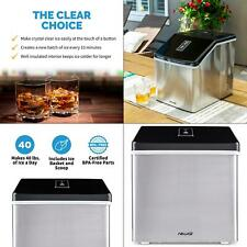 portable 40 lb. of ice a day countertop clear ice maker bpa free parts perfect