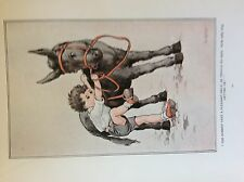 m17a ephemera 1920s book plate g w gossi the donkey gave a pleasant smile
