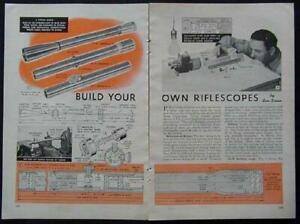 Rifle Scope vintage How-To Build PLANS 8 Designs 2 1/2X - 7 1/2X