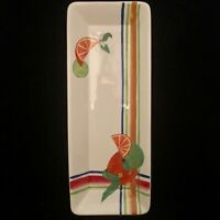 """Vintage Marigot by Nanette Vacher Ambiance Collections 18""""x7"""" Serving Tray"""