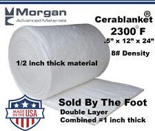 Ceramic Fiber Insulation Blanket Wool High 2400f Double Layer 1x12x24 8