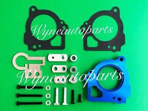 BLUE Throttle Body Spacer For 03-07 Dodge Dakota Durango & Mitsubishi Raider4.7L