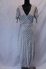 Nasty Gal Women's Elli White Play Your Cards Stripe Maxi Dress SV3 White Medium