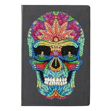 Craft Buddy Crystal Art fai da te NOTEBOOK Cranio con cristalli colorati Vernice Diamond