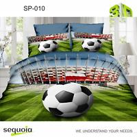 3D Football Bedding Set Duvet Quilt Cover Pillowcase Single UK ✅ Satin Cotton ✅