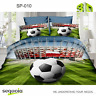 3D Football Bedding Set Duvet Quilt Cover Pillowcase Single UK ✅ Satin Cotton ✅