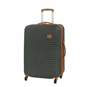 """27"""" Carry On Luggage Travel Suitcase Rolling Wheeled Medium Checked Bag Gray"""