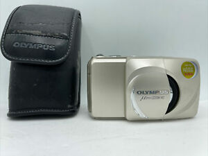 Olympus Infinity Stylus Zoom 140 Deluxe 35mm Point & Shoot Film Camera + Case