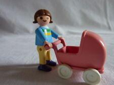 PLAYMOBIL personnage maison école parc forêt enfant fillette et sa poussette