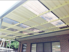 Pergola Kit 7m×4m Colorbond® + Polycarbonate Roof, Wall Attachd