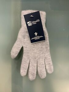 100% Lambswool Gloves   Johnstons of Elgin   Made in Scotland   Grey   Warm