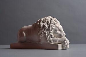 Löwe schlafend, Skulptur, kein Gips, Dekoration, Deko, Kunst #107
