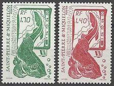 Timbres Poissons St Pierre et Miquelon 502/3 ** lot 15374