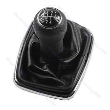 Noir 5 Vitesses Pommeau Levier De Vitesse Soufflet Coffre Pour VW Golf Bora