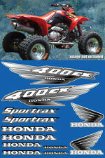 400ex Decals Graphics 12pc ATV QUAD Gen 1 FULL COLOR BLACK Pick Any Color