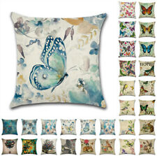 """18"""" UK Bird Flower Butterfly Cushion Cover Throw Pillow Cases Home Decor Gift"""