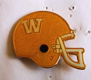 1991 Winnipeg Blue Bombers Gold color CFL football helmet pin by AMK Souvenirs