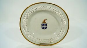 Early 19th Cent. Chinese Export Soft Paste Porcelain Armorial Reticulated Plate