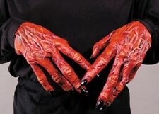 HALLOWEEN ADULT DEVIL DEMON  HANDS GLOVES MASK PROP