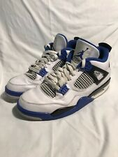 Air Jordan Retro 4 Motorsport Size 10 Bred Fire Red Military Blue White Cement
