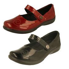 Padders Lyric Ladies Extra/super Wide Comfy Velcro Patent Mary Jane Shoes Black UK 4
