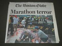 2013 APRIL 16 THE BOSTON GLOBE NEWSPAPER - BOSTON MARATHON TERROR - NP 2555